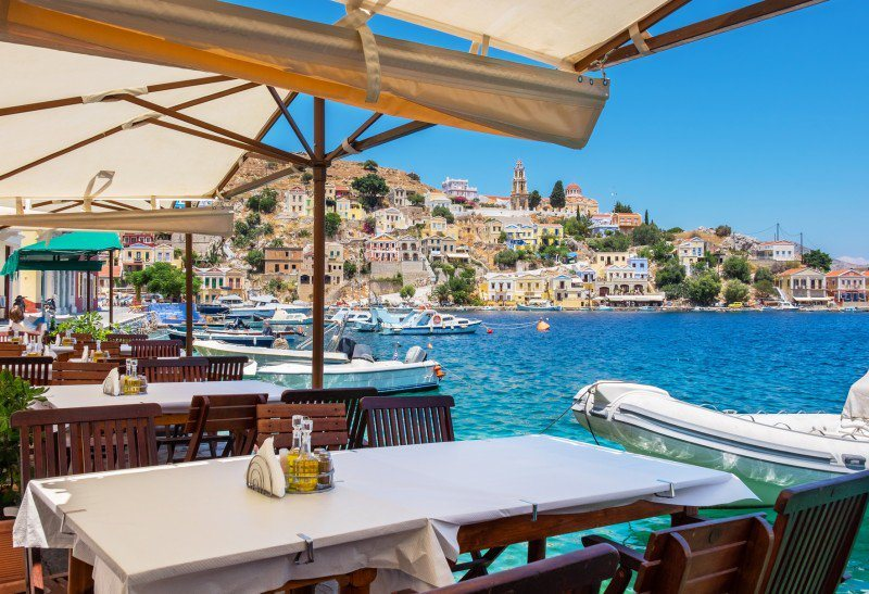 Luxury Yacht Charter Greece Cafe by Sea