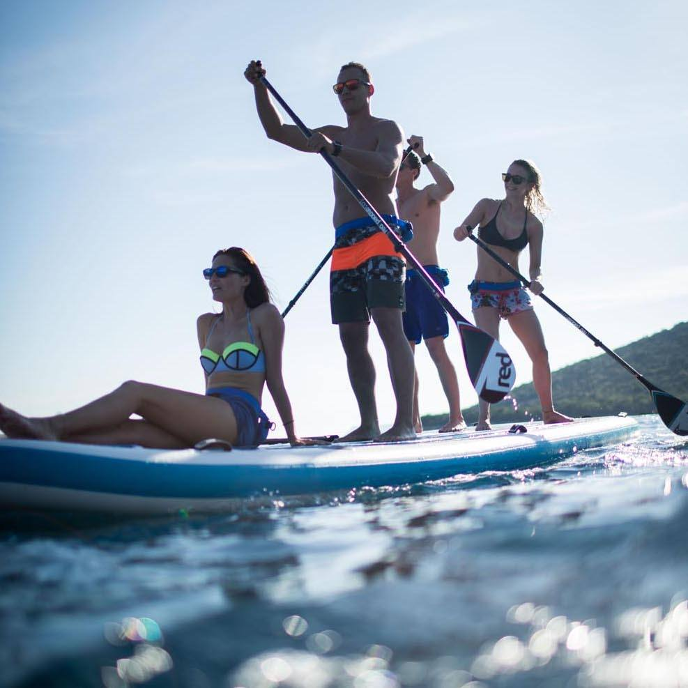 family sup sailing adventure
